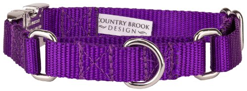 Country Brook Design | Heavyduty Nylon Martingale with Premium Buckle - Purple-S