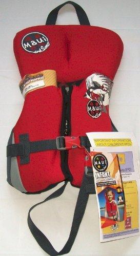 - Infant Neoprene Life Vest Red/Maui And Sons Life Vest