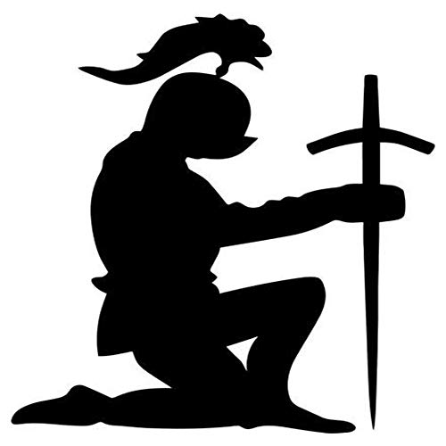 (Ross Stores Knight Kneeling Praying - Sticker Graphic - Auto, Wall, Laptop, Cell, Truck Sticker for Windows, Cars, Trucks)