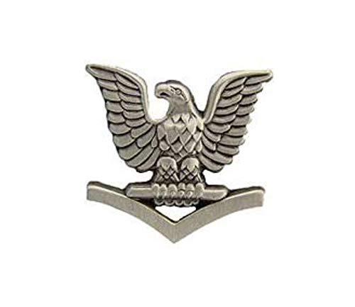 (EagleEmblems Navy Petty Officer Third Class (PO3/E-4) Sleeve Rank Insignia Pin - P10151 (7/8 inch))