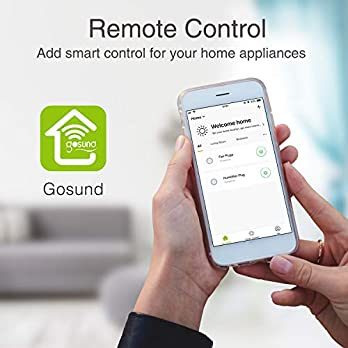 Wifi Smart Plug Work with Alexa, Google Home, IFTTT, No Hub Required, ETL and FCC Listed by Gosund (4 Pack)