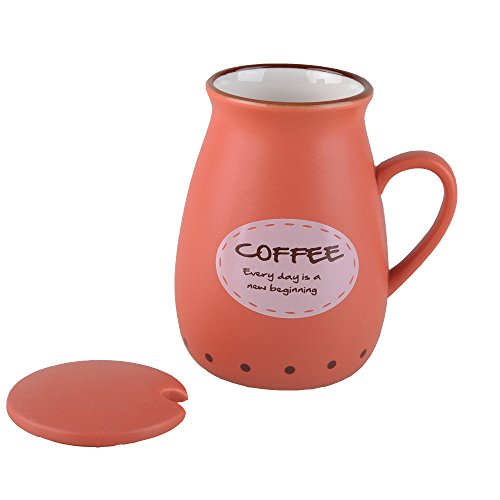 Cute Ceramic Mug Coffee Cup With Lid 14oz Gourmet