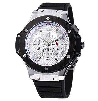 newest 22735 40248 Amazon | MEGIR メンズ腕時計 ウブロ風 ビッグバンタイプ ...