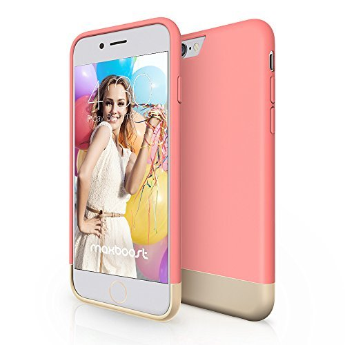 Maxboost Maxboost   Vibrance Series Scratch Protective Slider Case for Apple iPhone 6 - Cherry Blossom / Champagne Gold price tips cheap