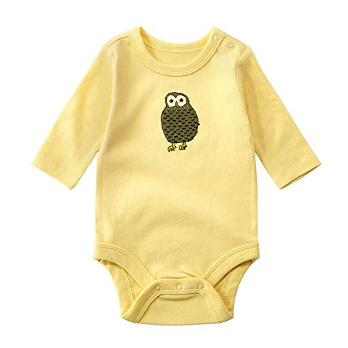 JooNeng Baby Unisex Organic Cotton Bodysuit Newborn Cartoon