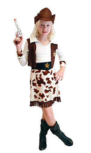stylesilove Adorable Little Girls Halloween Costume Party Cosplay Dress (M/4-6 Years, Cowgirl)