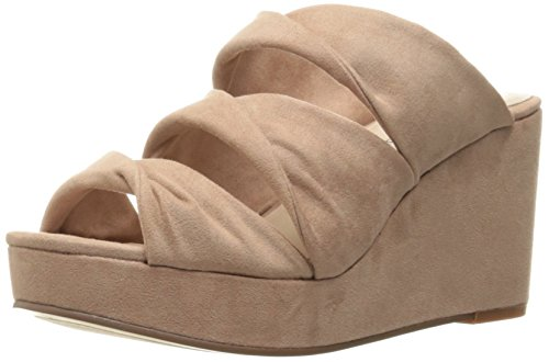 Chinese Wasvrouw Carlie Wig Dia Sandaal Roos Suede