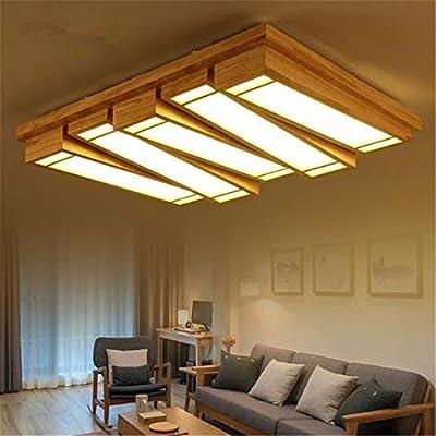 Luz Lámpara de madera maciza Lámpara de techo for sala de ...