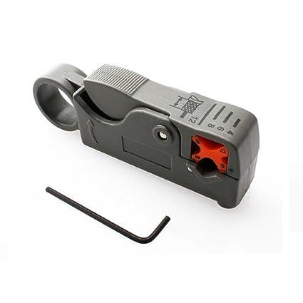 Vktech® Cortador Pelador de Cables Coaxial Giratoria para Cable RG-58/59/