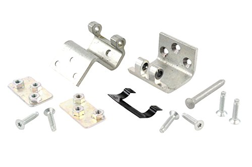 Hinge Plate Pin (Genuine GM Parts 19257344 Intermediate Side Door Lower Door Hinge Kit with Hinges, Backing Plates, Pin, Stop, and Bolts)