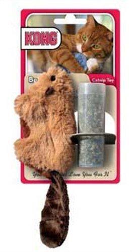 Pet-Supply Kong Beaver - Juguete de gato rellenable, colores variados, contiene gato natural de alta calidad: Amazon.es: Productos para mascotas