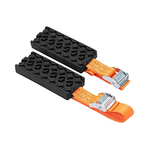 Mud and Sand Tire Traction Device for Cars and Small SUVs - Set of 2 - A Chain/Snow Tire Alternative That Helps You Get Unstuck - Easy Install Blocks Strap to Your Vehicle Tires