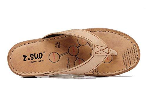 dqq - sandalias de piel de mujer tipo chancla Beige - rosa grisáceo claro