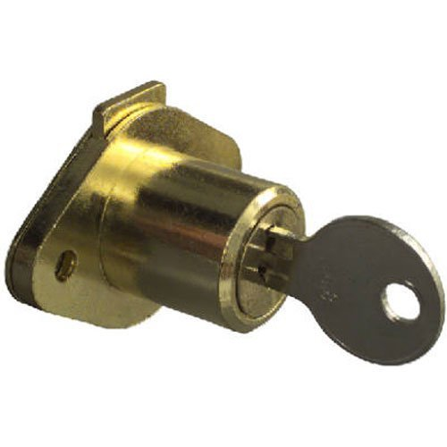 National Mfg Spectrum Brands Hhi N183 772 Keyed Drawer Lock  Brass