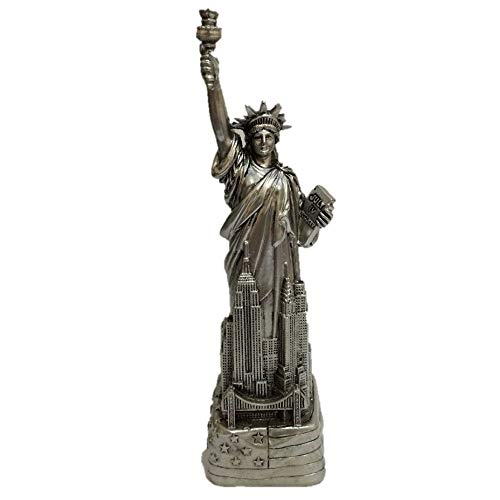 PNPGlobal Statue Liberty Figurine New York City with Flag Base 6