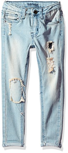 kensie Girls' Little Denim Jean (More Styles Available), Light Blue, 5 from kensie
