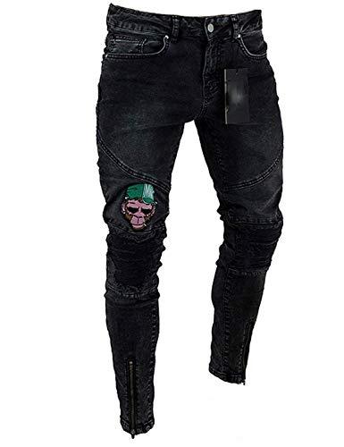 Holes Pantalones Embroidery Desgastados Ripped Stretch Denim Colour Pantalones Vintage Jeans Skinny Jeans Vaqueros a8fF8