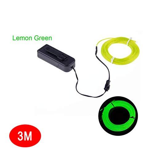 tesyyke EL Wire Neon Glowing Light Battery Powered Waterproof LED Strips for Halloween Christmas -