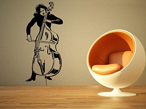 wall-room-decor-art-vinyl-sticker-mural-decal-double-bass-lady-poster-musical-instrument-music-music