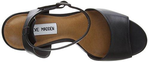 Steve Madden Stride Sandal - Sandalias con tacón Mujer Black (Black)