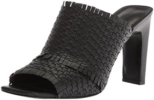 Nine West Women's Lucili Leather Slide Sandal, Black Leather, 9 Medium US by Nine West