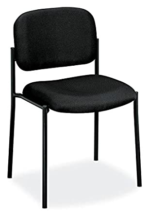 Amazoncom basyx by HON Guest Chair Upholstered Stacking Chair
