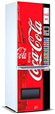 Pegatinas Vinilo para Frigorífico Máquina expendedora Cocacola ...
