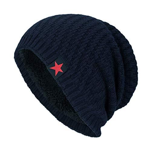 cálido Estrella de Aire Invierno Cachemira Sombrero Puntas de la de Moda de la Sombrero de marino además azul Libre Cinco de de Gorro al decoración de Sombreros qTTva