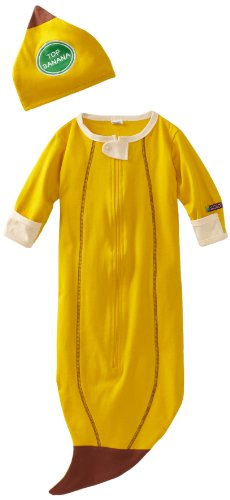(Sozo Unisex-Baby Newborn Banana Bunting and Cap Set, Yellow, One Size)