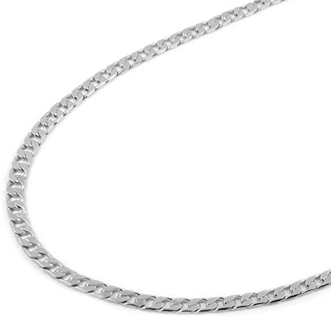 24 inches Big Flat Oval Cable Chain Sterling Silver Chain Necklace - SKU: 601010-24 8 by 6mm Sterling Silver Necklace