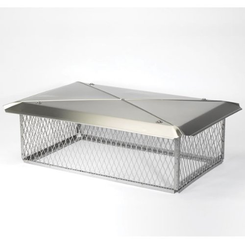 100830 13x 20 Chimney Protector Gelco Black Galvanized Cap
