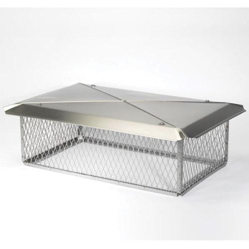 "GELCO 17"" x 41"" Gelco Stainless Steel Multi-flue Chimney Protector Cap W/swingtabs, 12"" High, 3/4"" Mesh 13248"