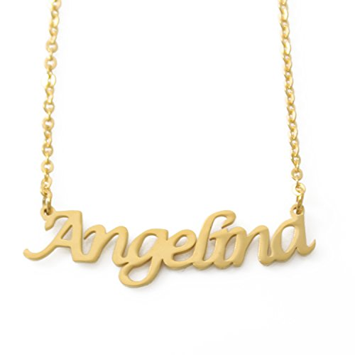 Zacria Angelina Name Necklace - 18ct Gold Plated