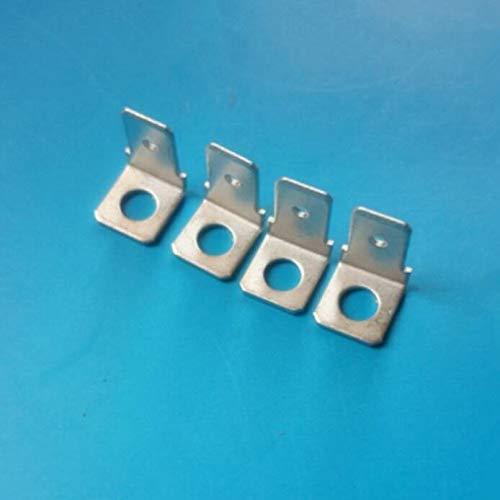 FidgetKute 6.3mm Insert 250 L Male tab PCB Terminal 90 Degree Angle Plug 100PCS
