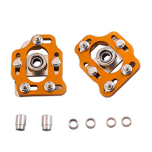 - maXpeedingrods Pair Coilover Camber Plate Top Mount for Ford Mustang 1979-1989 Billet Aluminum Caster