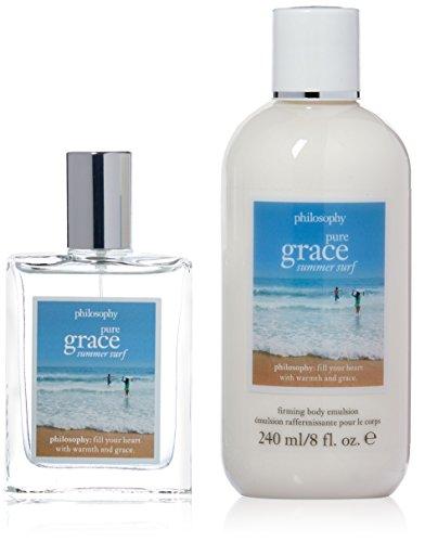 Philosophy Pure Grace Summer Surf for Women 2 Piece Gift (Philosophy Pure Grace Spray Fragrance)