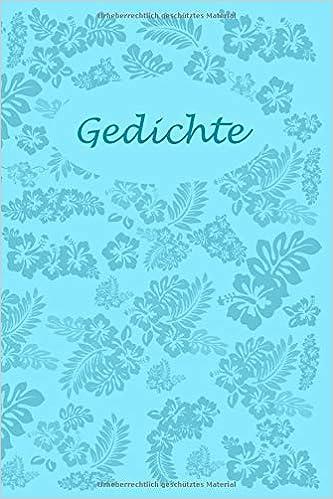 Amazoncom Gedichte Liniertes Buch Zum Selbst Beschreiben