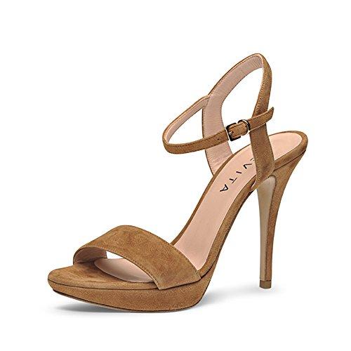 cognac Valeria Donna Marrone Sandali Evita® BISwqnYg