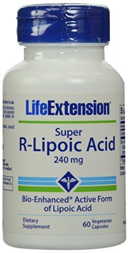 Life Extension Super R-Lipoic Acid, 240mg, 60-Count by Life (Bio Lipoic Acid)
