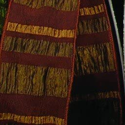 Amazon Com The Ribbon People Coffee Brown Burgundy Red And Gold Striped Wired Craft Ribbon 2 X Yards