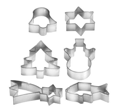 Cia Cookware (Tescoma Del?cia 6-Piece Christmas Cookie Cutter on Ring)