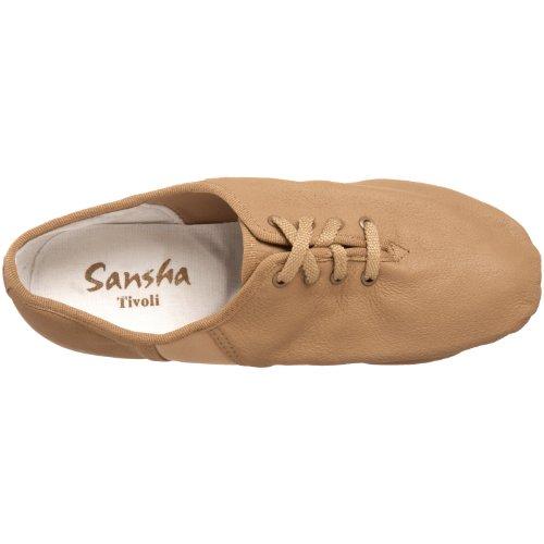 Sansha Lace Leather Up Shoe Jazz Tan Tivoli AvqzxA7FwH