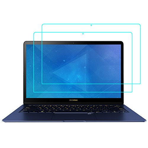 J&D Compatible for 2-Pack ZenBook 3 Deluxe Screen Protector, [Anti Blue Light] [Eye Protection] [Not Full Coverage] Premium Film Shield Screen Protector for ASUS ZenBook 3 Deluxe Screen Protector