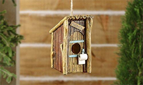 - Gift Craft Polystone Outhouse Design Birdhouse