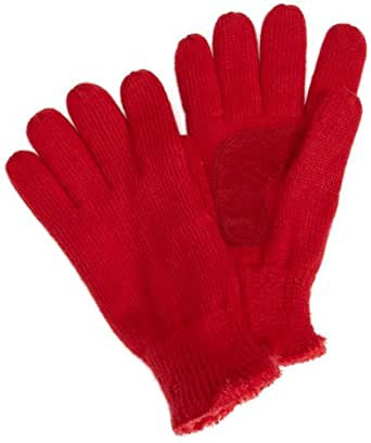 Isotoner Women's Solid Knit Glove,Really Red,One Size
