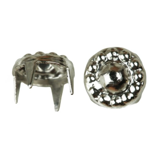 Mexican Sombrero Nailhead, Size 30, Solid Brass, Nickel Finish, 300 pieces per ()
