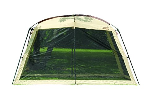 Texsport Wayford 12' x 9' Portable Mesh Screenhouse Arbor Canopy for Backyard and Camping (Island Shade Tent)