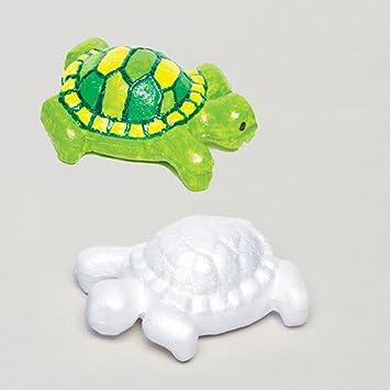 Baker Ross Siluetas De Tortugas De Poliestireno Blanco Que Los Ninos