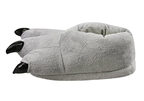 Shoes Animal Party Unisex Slippers Adult Costume Halloween Home Claw Fuzzy Gray Soft xCwq0nwXv