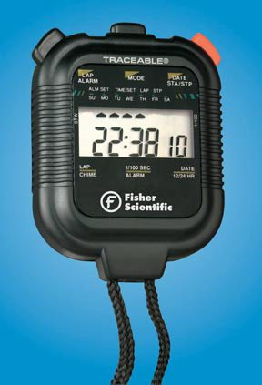 Fisherbrand Traceable Stopwatches 24 hour, Shockproof by Fisher Scientific